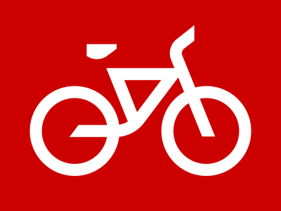 Bicycle picto wayfinding signage bike bicycle pictogram icon