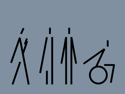 Lineiki pictograms reader disabled man wayfinding pictogram icon