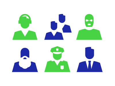Icons for biometrics app branding identity iconset icon system recognition voice face design grid pictogram icon