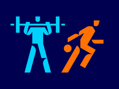 Some sport icons aura devices basketball training weight grid pictogram icon