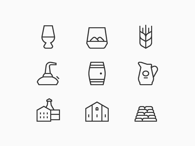 Whisky Icons whisky cask snifter malt single malt jug ios pot still distillery warehouse tumbler peat