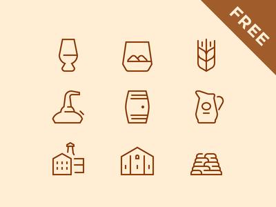Whisky Break Free Icons