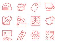 Laminate flooring icons