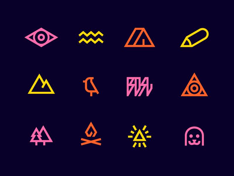 Baikal Design Camp icons baikal