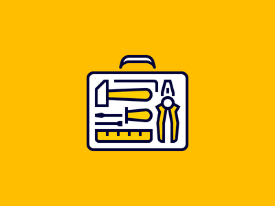 Toolbox icon hammerhead pliers screwdriver toolbox