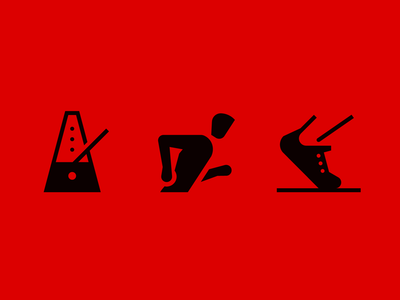 Running icons road sneaker metronome icons run running sport