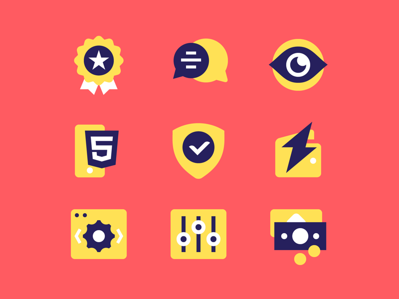 TrueFlip icons language money html5 iframe flat payout trueflip pictogram icon