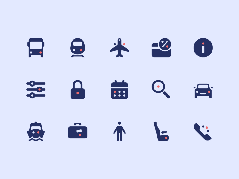 GoEuro icons icon system design world tickets travel trip omio goeuro pictogram icon