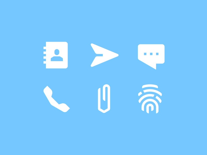 Messenger icons messaging icondesign glyph send call attach touchid contacts message pictogram icon