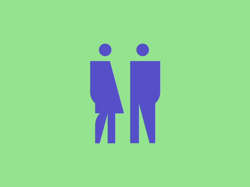 Man Woman wc woman man wayfinding signage pictogram icon