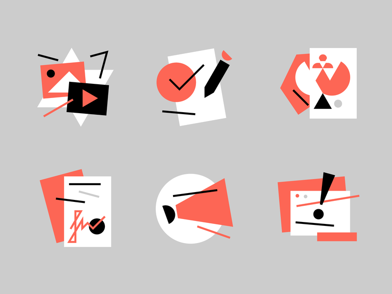 Suprematic suprematic pictogram icon