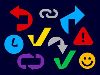 Elements checkmark arrow pictogram icon