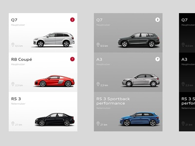 Audi Digital Branding cars auto app digital branding digital first audi ui