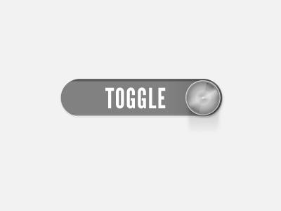 Toggle Slider toggle switch metallic clean illustrator grey minimal