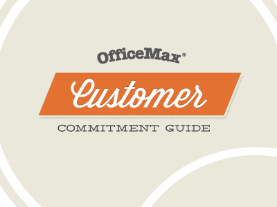 Customer Commitment cover orange guide typography warm lost type