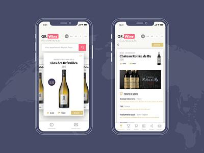 Qrwine mobile app web design app direction ui ux branding