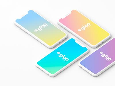 Gloo Splash Screen / mobile app direction design app ui ux logo branding