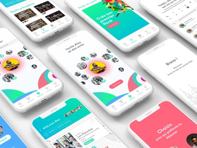 Gloo mobile app logo app ux ui design direction branding
