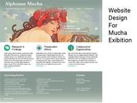 Website Design For Mucha Exibition