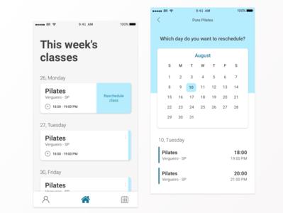 Pilates app UI