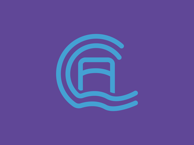 Carloway Community Association Logo illustrator flow community scotland icon design icon bridge water logo logo design