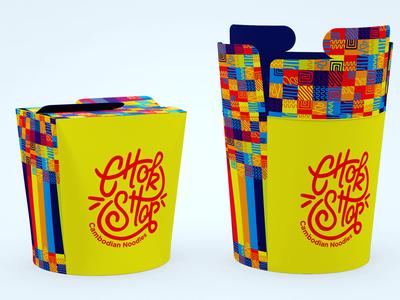Chok ShopPackaging graphic design logo patterns asian noodles identity packaging food street brandin