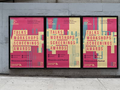 FYFF Posters poster design street dynamic festival film posters poster visual identity branding typography scotland graphic design