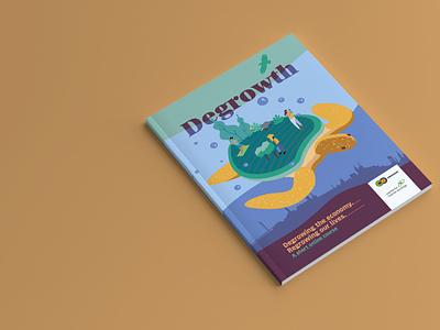 Degowth Booklet zine cover journal magazine scotland scottish illustration vector graphic design editorial