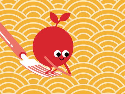 Tomato Spaghetti design italianfood italian vector characterdesign character illustrator illustration flatdesign flat cute spaghetti tomato