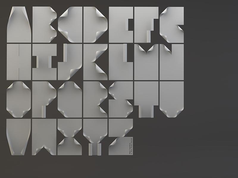 Bend Typeface unique bold dark modern pop paper future bend fontface font typeface typography