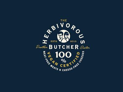 The Herbivorous Butcher vegan design typography branding logo
