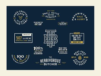The Herbivorous Butcher mplsminn typography vegan design logo branding