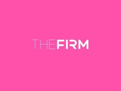 The FIrm – Wordmark website gym logo the firm the firm vector icon brand identity icon design branding typography logo mplsminn design