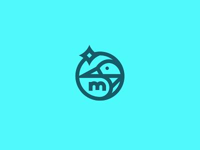 Loon star of the north state bird icon brand identity logo branding vector mplsminn design