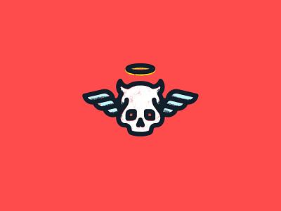 Conscience angel devil icon design illustration vector mplsminn design