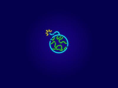 Time Bomb time bomb mplsminn icon design logo branding illustration vector design