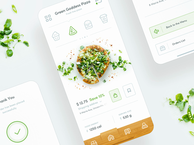 Food Order Interaction product design sketch mobile animation after effects ae motion purchase interaction white green clean style pull down shopping cart mobile app iphone  nike material ui ux line icons ecommerce shop e-commerce store checkout purchase buy add item basket bag