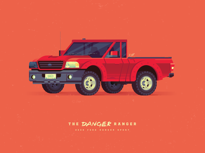 The Danger Ranger vector truck ranger poster illustrator illustration graphicdesign design danger creative artwork