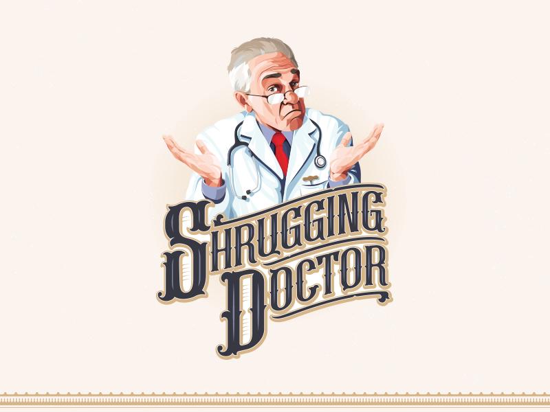 The Shrugging Doctor graphicdesign design logo branding creative liquor manitoba local shrug doctor wine