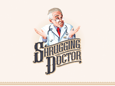 The Shrugging Doctor graphicdesign design logo branding creative liquor manitoba local shrug doctor wine
