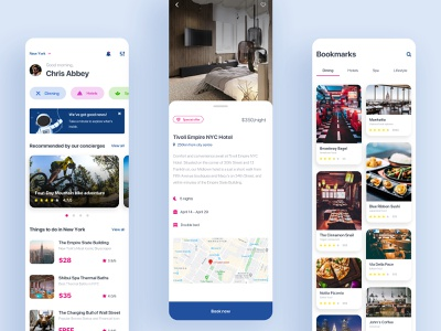 Concierge App Design ios app design design ui design clean ui offers app ui deals hotels dining lifestyle spa travel booking app concierge