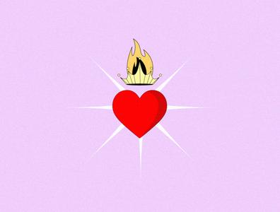 Corazón / Heart dibujo illustrator logo design icon vector drawing illustration crowns hearts heart crown