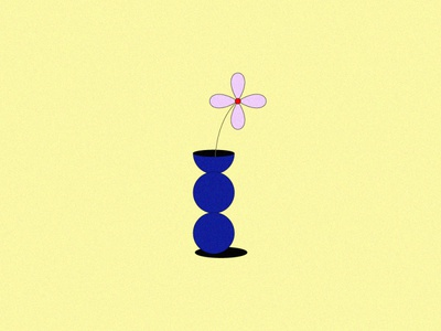 Flower in a base art ui logo illustrator drawing vector icon design illustration flower