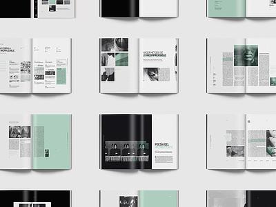 Hacedores de Mundo | Magazine art photoshop illustrator indesign publishing surrealistic surrealism typography text green design editorial magazine book andre breton