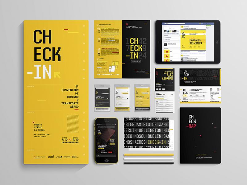 Check-in   Branding checkin pilots pilot boarding boardingpass passport ui  ux ux design brand typography festival postal app tickets yellow airlines travel trip check-in branding