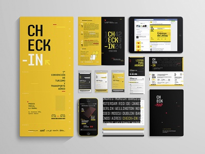 Check-in | Branding checkin pilots pilot boarding boardingpass passport ui  ux ux design brand typography festival postal app tickets yellow airlines travel trip check-in branding