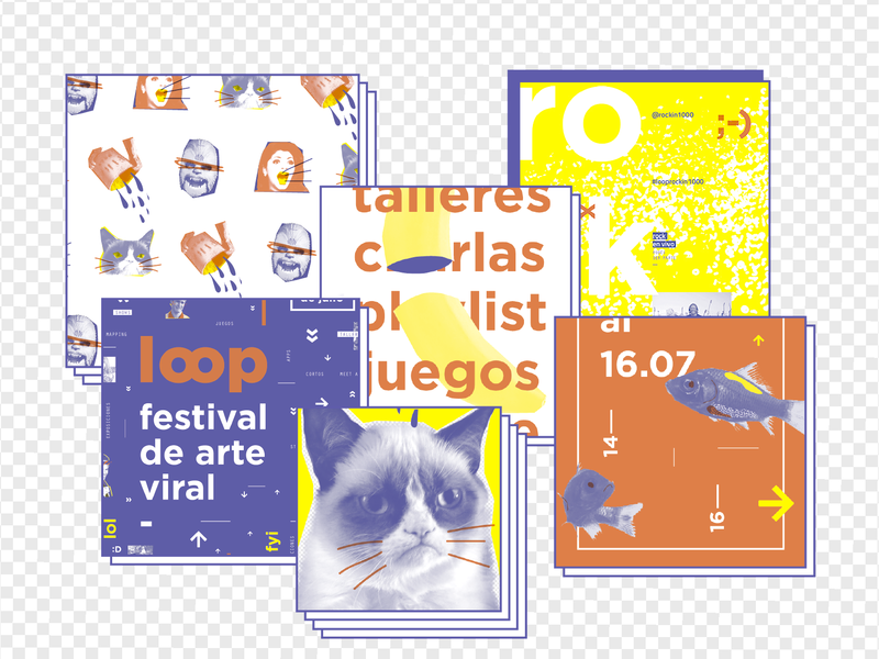 Loop | Branding fish social media evento merchandising sistema viral branding gabriele youtube web video online meme loop internet grumpy cat cat gif festival art