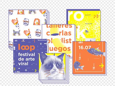 Loop | Branding fish social media evento merchandising sistema viral branding gabriele youtube web video online meme loop internet grumpy cat cat gif festival art