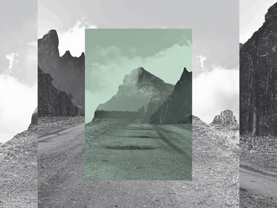 Hacedores de Mundo | André Breton green mountain pic photoshop picture black and white typography surrealistic surrealist surrealism publishing design editorial book magazine andré breton