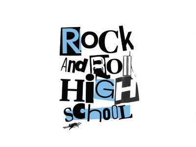 Ramones | Rock & Roll High School drums guitar rock concert typography new york city new york rock  roll music art concert photoshop illustrator ramones punk rock punkrock punk music school high school rock and roll rock band